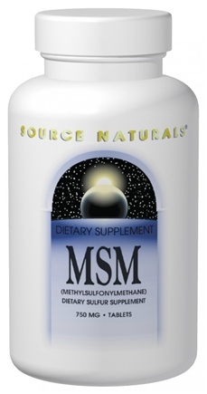 DROPPED: Source Naturals - MSM Methylsulfonylmethane with Vitamin C 750 mg. - 60 Tablets CLEARANCE PRICED