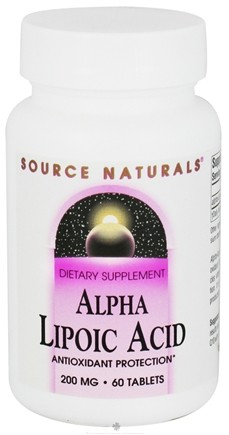 DROPPED: Source Naturals - Alpha-Lipoic Acid 200 mg. - 60 Tablets CLEARANCED PRICED
