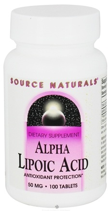 DROPPED: Source Naturals - Alpha-Lipoic Acid 50 mg. - 100 Tablets CLEARANCE PRICED