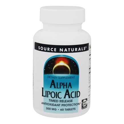 Source Naturals - Alpha Lipoic Acid Timed Release 300 mg. - 60 Tablets