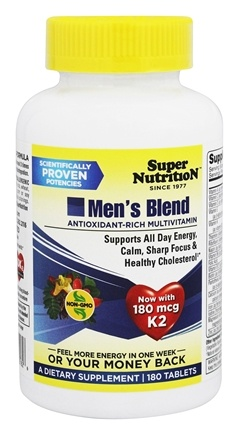 Super Nutrition - Men's Blend MultiVitamin - 180 Vegetarian Tablets