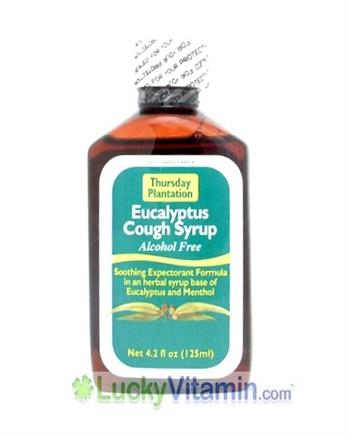 DROPPED: Thursday Plantation - Eucalyptus Cough Syrup - 4.2 oz. CLEARANCE PRICED