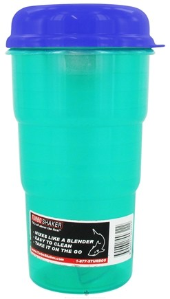 DROPPED: Turbo Shaker - Green Shaker with Blue Lid - 24 oz. CLEARANCED PRICED