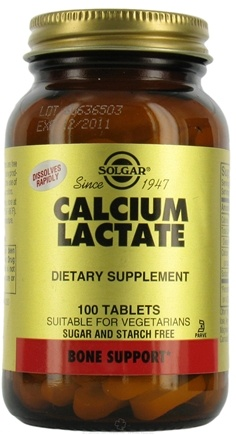 DROPPED: Solgar - Calcium Lactate - 100 Tablets