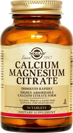 DROPPED: Solgar - Calcium Magnesium Citrate - 50 Tablets CLEARANCE PRICED