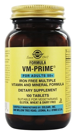 Zoom View - Formula VM-Prime Vitamin & Mineral Formula For Adults 50+ Iron-Free