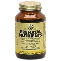 DROPPED: Solgar - Prenatal Nutrients - 60 Tablets