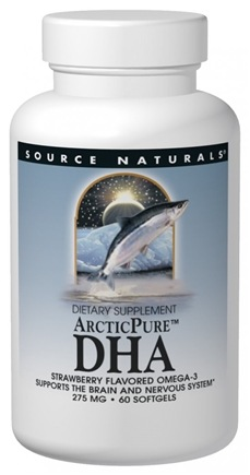 DROPPED: Source Naturals - ArcticPure DHA (strawberry flavored) 275 mg. - 60 Softgels