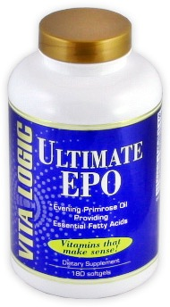 DROPPED: Vita Logic - Ultimate EPO Evening Primrose Oil Providing Essential Fatty Acids - 180 Tablets CLEARANCE PRICED