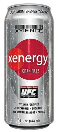 DROPPED: Xyience - Xenergy Premium Energy Drink Cran Razz - 16 oz. CLEARANCE PRICED