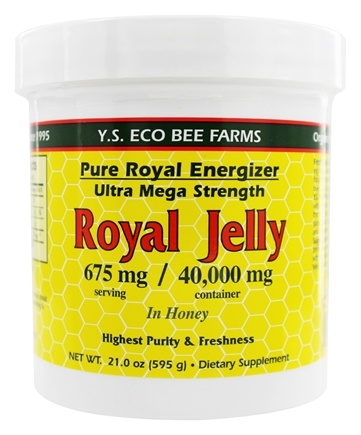 YS Organic Bee Farms - Pure Royal Energizer: Royal Jelly In Honey 675 mg. - 21 oz.