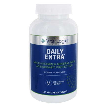 DROPPED: Vita Logic - Daily Extra Complete Multi-Vitamin & Mineral Formula Once Daily - 180 Vegetarian Tablets
