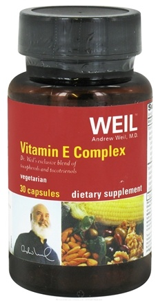 DROPPED: Weil Nutritional Supplements - Vitamin E Complex - 30 Vegetarian Capsules CLEARANCE PRICED
