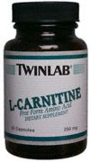 DROPPED: Twinlab - L-Carnitine 250 mg. - 30 Capsules