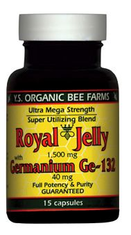 DROPPED: YS Organic Bee Farms - Royal Jelly with Germanium GE-132 1500 mg. - 15 Capsules