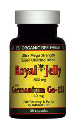 DROPPED: YS Organic Bee Farms - Royal Jelly and Ge-132 1-855mg Royal Jelly+40Mg Germanium - 35 Capsules