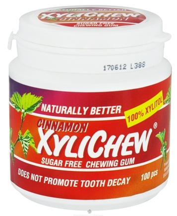 DROPPED: XyliChew - Sugar Free Chewing Gum Cinnamon - 100 Piece(s)