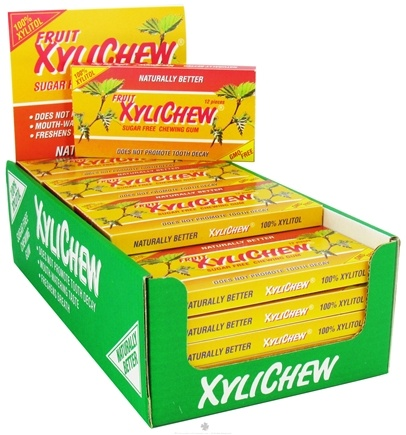 DROPPED: XyliChew - Sugar Free Chewing Gum Fruit - 12 Piece(s)