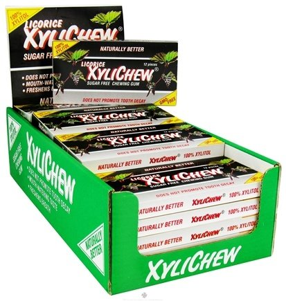 DROPPED: XyliChew - Sugar Free Chewing Gum Licorice - 12 Piece(s)