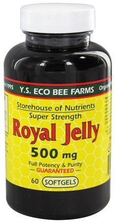 DROPPED: YS Organic Bee Farms - Royal Jelly Super Strength 500 mg. - 60 Softgels