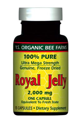 DROPPED: YS Organic Bee Farms - Royal Jelly Caps (Ultra Strength) 2 mg. - 15 Capsules