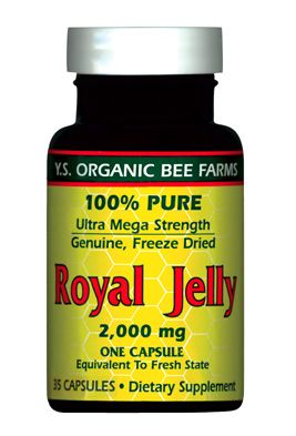 DROPPED: YS Organic Bee Farms - Royal Jelly Caps (Ultra Strength) 2000 mg. - 35 Capsules