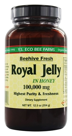 YS Organic Bee Farms - Royal Jelly In Honey Beehive Fresh 100000 mg. - 12.5 oz.