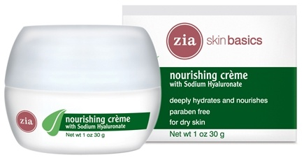 DROPPED: Zia - Skin Basics Nourishing Creme with Sodium Hyaluronate - 1 oz. CLEARANCE PRICED