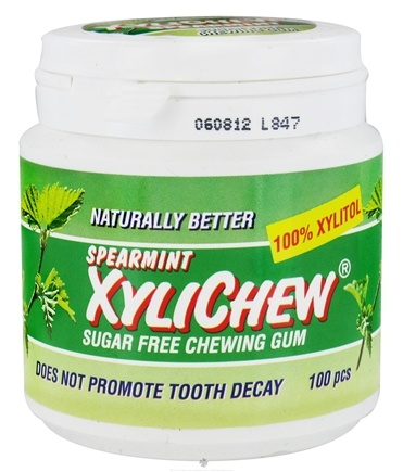 DROPPED: XyliChew - Sugar Free Chewing Gum Spearmint - 100 Piece(s)