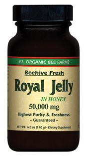 DROPPED: YS Organic Bee Farms - Royal Jelly In Honey (Glass Bottle) 50000 mg. - 6 oz.