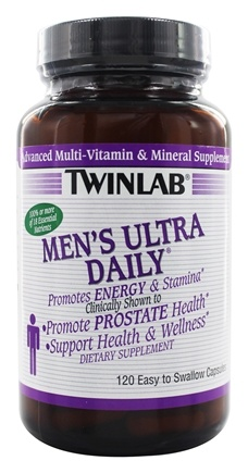 DROPPED: Twinlab - Men's Ultra Daily Advanced Multi-Vitamin & Mineral Supplement - 120 Capsules