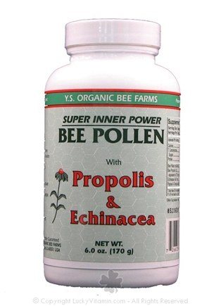 DROPPED: YS Organic Bee Farms - Super Inner Power Bee Pollen Powder with Propolis & Echinacea - 6 oz.
