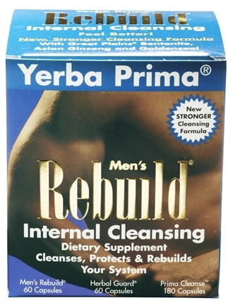 DROPPED: Yerba Prima - Men's Rebuild Cleansing System - CLEARANCED PRICED