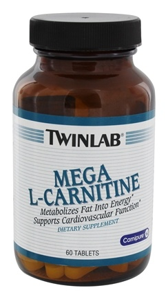 DROPPED: Twinlab - Mega L-Carnitine 500 mg. - 60 Tablets CLEARANCED PRICED