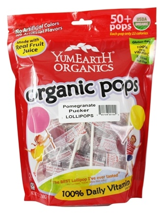 DROPPED: Yum Earth - Organic Lollipops Gluten Free Pomegranate Pucker Flavor - 12.3 oz.