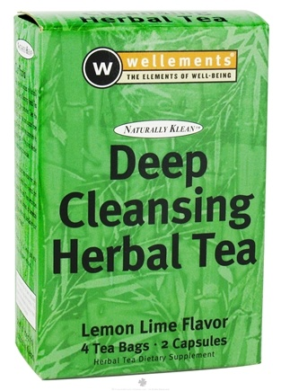 DROPPED: Wellements - Naturally Klean Deep Cleansing Herbal Tea Kit Lemon Lime - CLEARANCE PRICED