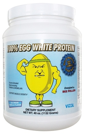 Vitol - 100% Egg White Protein Ice Cream Vanilla - 40 oz.