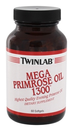 DROPPED: Twinlab - Primrose Oil Mega 1300 mg. - 60 Softgels