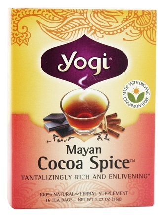 DROPPED: Yogi Tea - Mayan Cocoa Spice Tea with Organic Cinnamon Bark - 16 Tea Bags