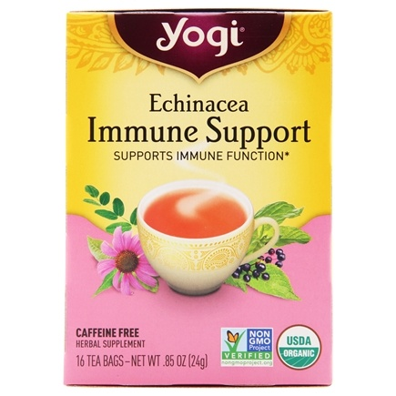 Zoom View - Echinacea Immune Support Tea with Elderberry Caffeine Free
