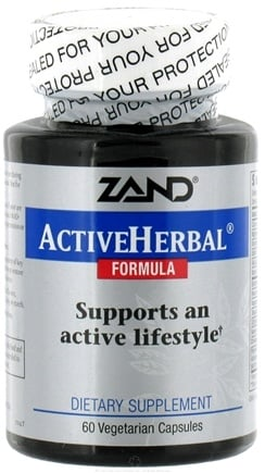 DROPPED: Zand - Active Herbal - 60 Vegetarian Capsules CLEARANCE PRICED