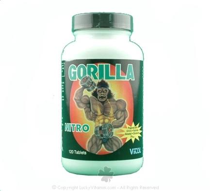DROPPED: Vitol - Gorilla Nitro - 120 Tablets