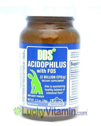 DROPPED: UAS Laboratories - DDS-Acidophilus Powder - 2.5 oz. CLEARANCE PRICED