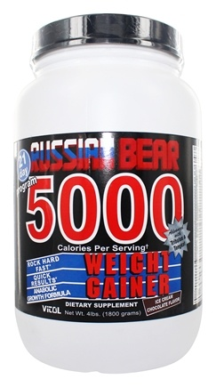 Vitol - Russian Bear 5000 Weight Gainer Chocolate - 4 lbs.