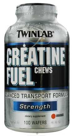 DROPPED: Twinlab - Creatine Fuel Orange - 100 Chewable Wafers