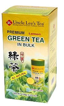 DROPPED: Uncle Lee's Tea - Premium Green Tea With Lemon In Bulk - 5.29 oz. CLEARANCE PRICED