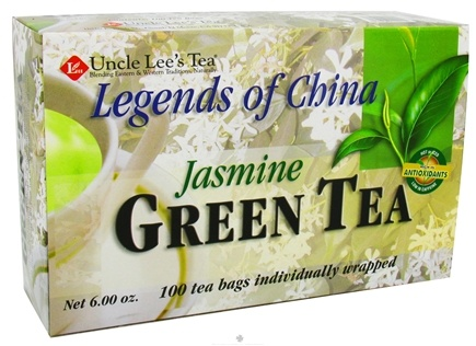 DROPPED: Uncle Lee's Tea - Legends of China Jasmine Green Tea - 100 Tea Bags CLEARANCED PRICED