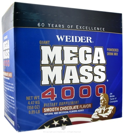 DROPPED: Weider Health And Fitness - Giant Mega Mass 4000 Chocolate - 9.85 lbs.