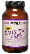 DROPPED: Twinlab - Daily Two Without Iron - 60 Capsules