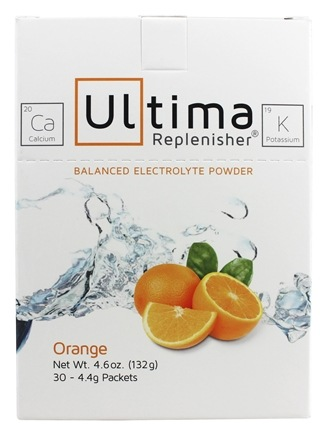 DROPPED: Ultima Health Products - Ultima Replenisher Drink Orange - 30 x 4.4g (.15oz) Packets